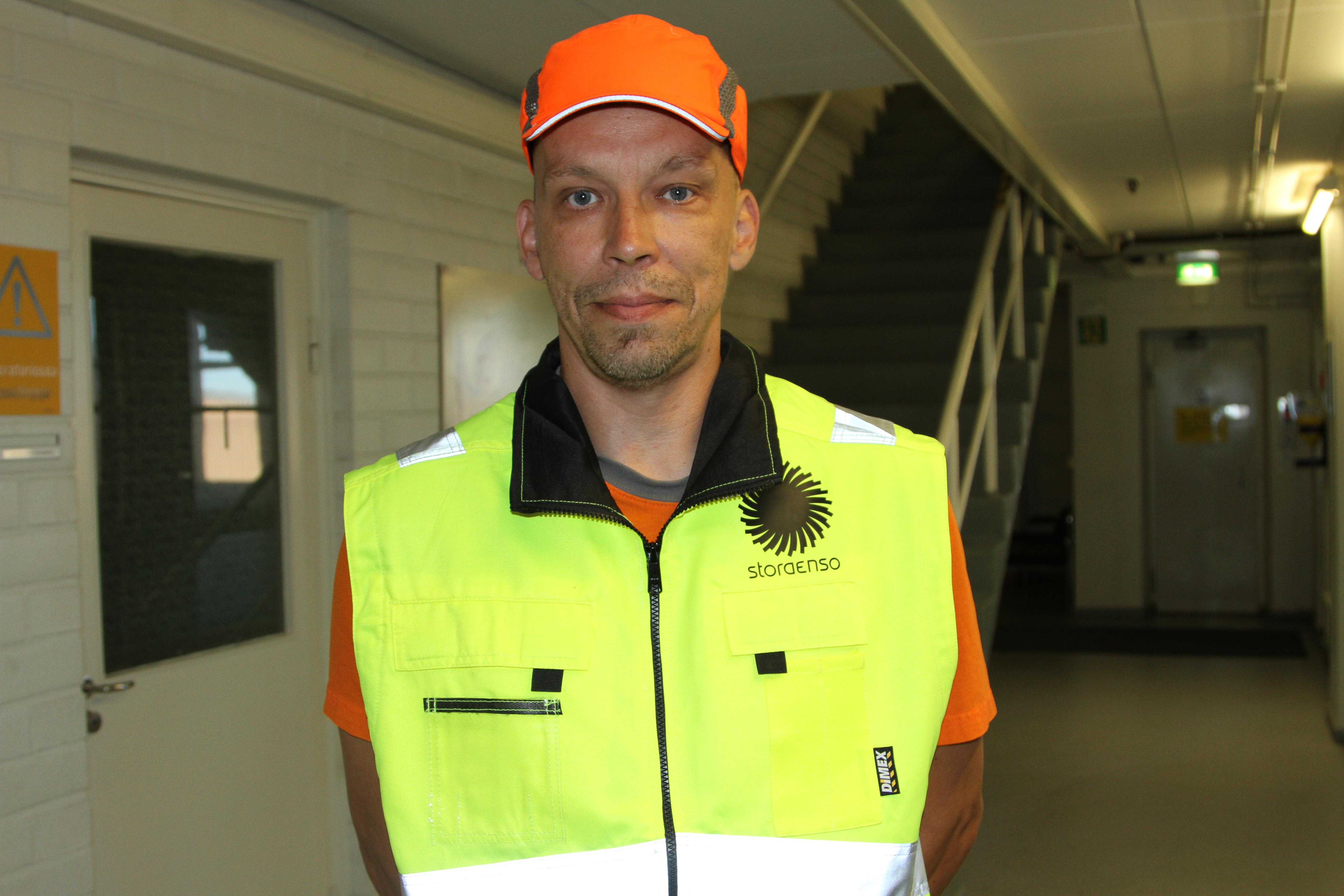 Teemu Savolainen on saanut kiitosta turvallisuushavaintojen tekemisestä.