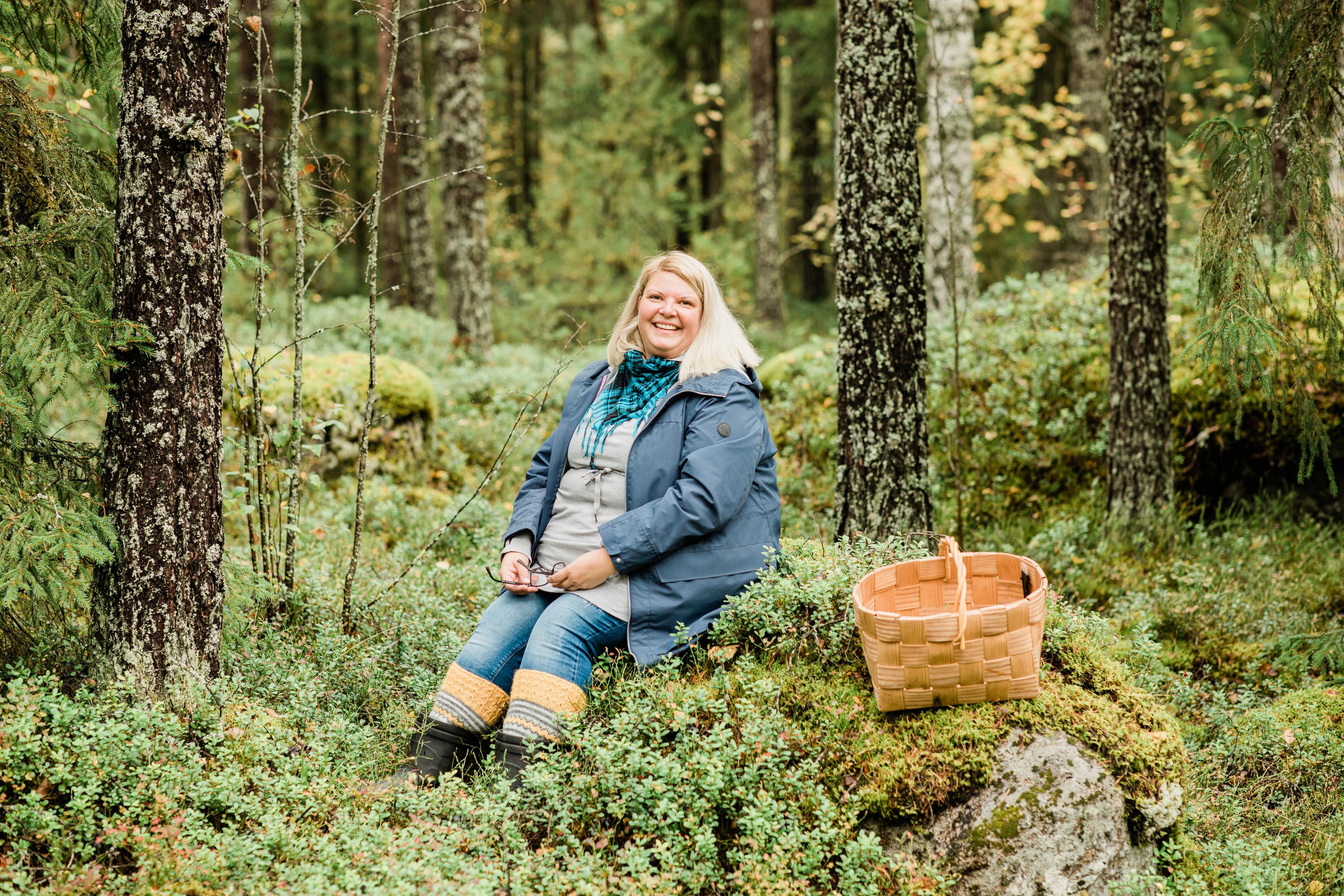 Marja Järvinen on 41-vuotias logistikko Essityn Nokian pehmopaperitehtaalta.